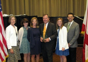 L to R: Anna McWane (Phillip's sister), Laura McWane, Heather McWane, Phillip McWane, Katie McWane Gaston and Michael Gaston)