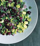 Fava Beans with Red Onion and Mint