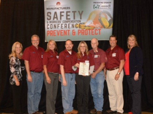 Tyler Pipe Marshfield MAM Safety Excellence Award