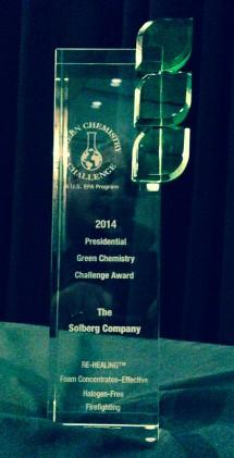 Solberg EPA Presidential Green Chemistry Challenge Award