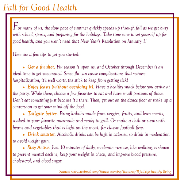 Fall for Good Health