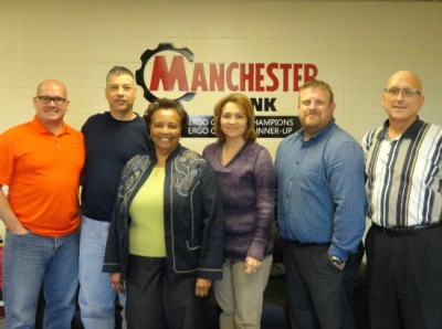 L to R: Jim Grawe, Rex Blevins (Group Safety Director), Wanda Hendrix (HR Director, McWane), Mary Kendrick, Jason Eads, and Rick Nesbit
