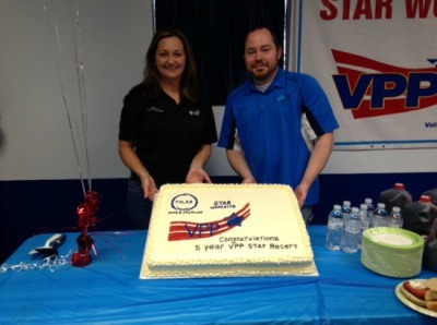 Alicia Hardacre (Safety Manager) and Tim Graham (EHS Technician)