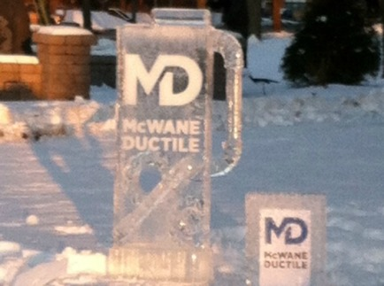 McWane Ductile Ohio Ice Sculpture