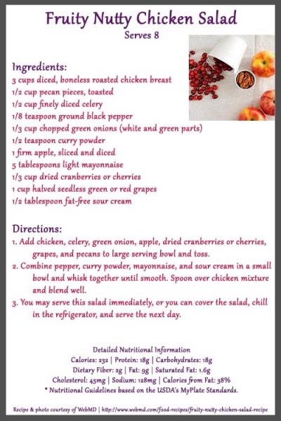 Fruity Nutty Chicken Salad