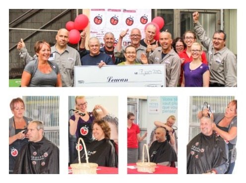 Bibby Ste. Croix Shaves Heads for Cancer