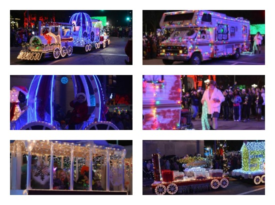 CVO 2017 Christmas Parade Collage