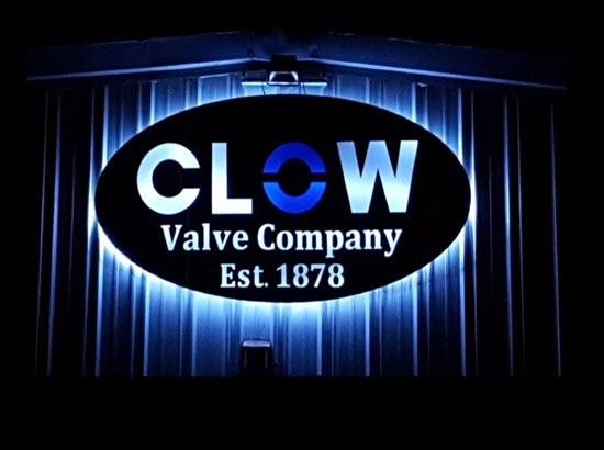 CLOW VALVE SIGN